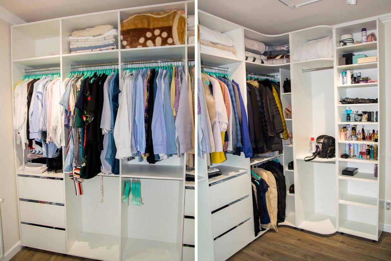 detali compartimentare dressing cu rafturi si bara de haine 1