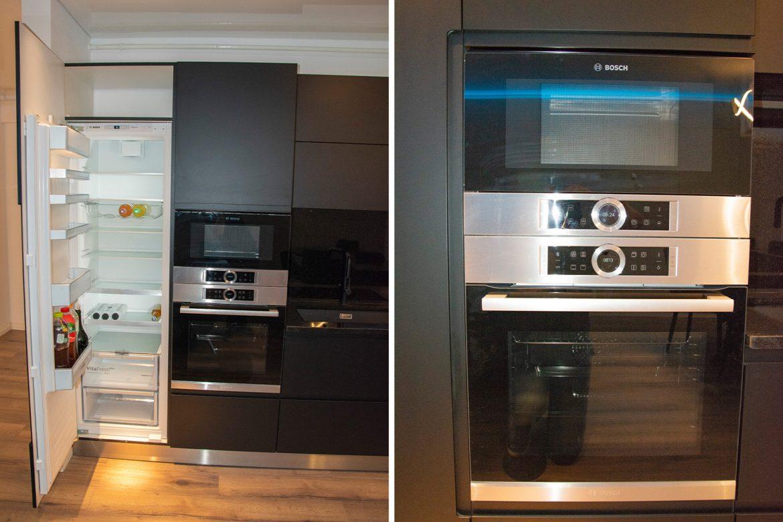 detali frigider incastrabil cu cuptor electric si cuptor cu microunde