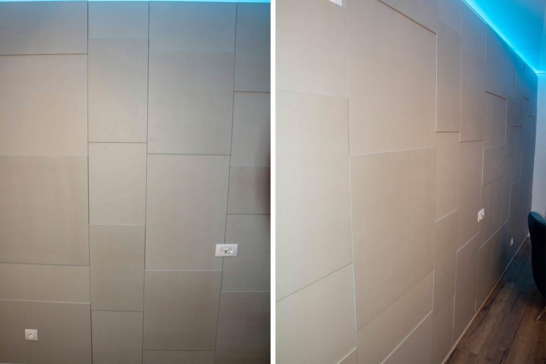 detali perete cu plasi de 18mm si de 6mm