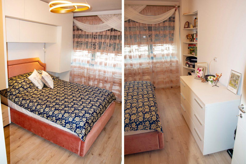 Dormitor la comanda din pal alb