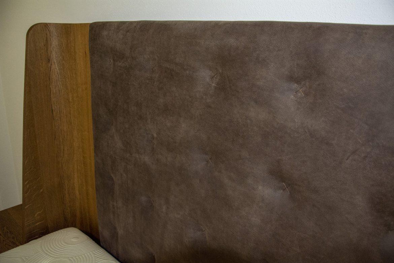 detali tapiterie pat din piele naturala yulmob