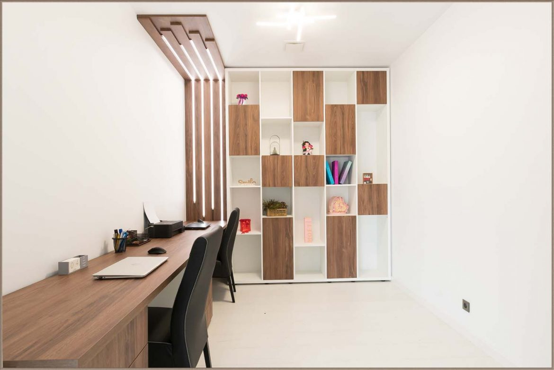bioru office din pal stejar cu pal alb